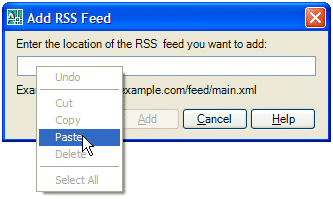 RSS Feed Reader Inside AutoCAD 043007 0531 rssfeedread5