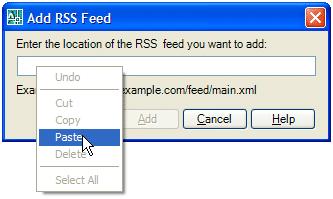 RSS Feed Reader Inside AutoCAD 043007 0531 rssfeedread5