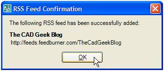 RSS Feed Reader Inside AutoCAD 043007 0531 rssfeedread6
