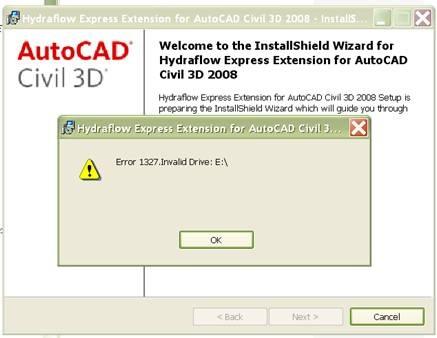 Hydraflow installation error – The CAD Geek