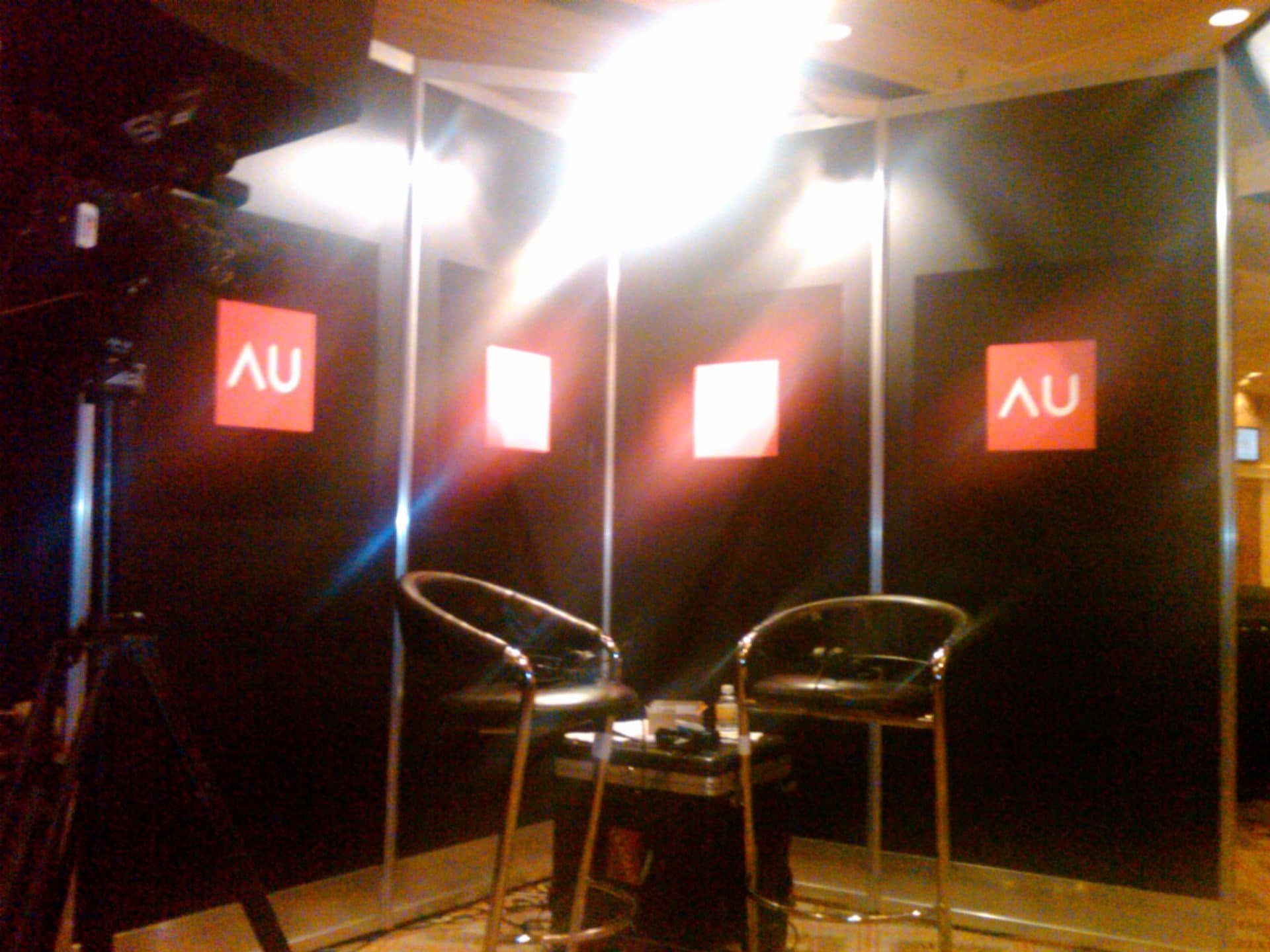 Arriving at AU 2009 auvirtual interview
