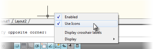 Display Drawing Mode Icons as Text