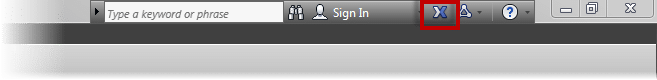 Opening the Autodesk Exchange for AutoCAD from the InfoCenter Toolbar