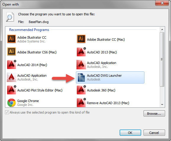 Controlling how AutoCAD Drawings Open from Windows Explorer