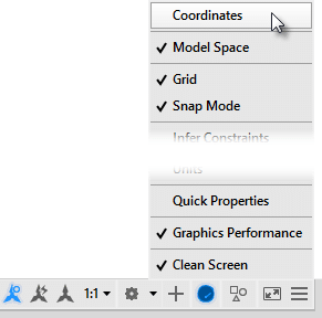 Where did the Coordinate readout in the AutoCAD status bar go? - The