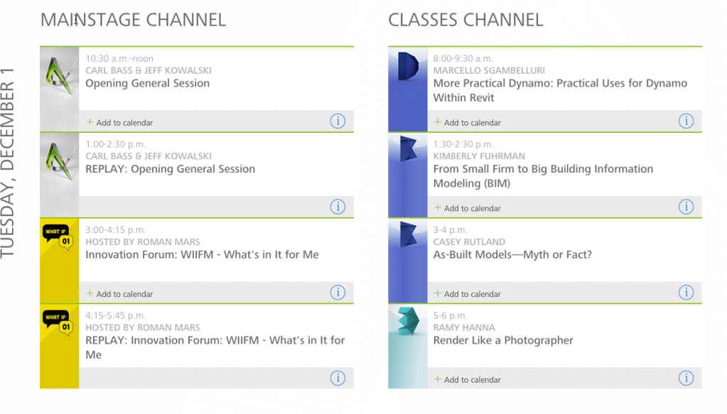 Autodesk University 2015 Tuesday Live-Stream