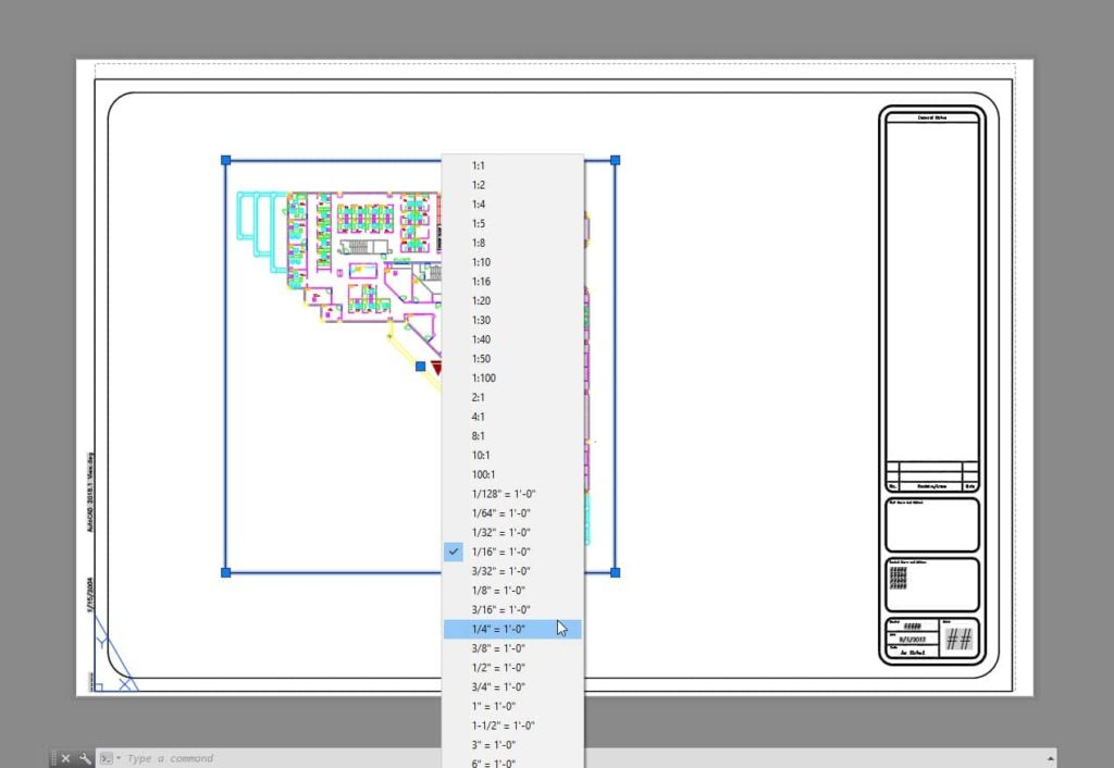 Sheet Setup Made Easy with AutoCAD 2018.1 Views and Viewports AutoCAD 2018.1 Change View Scale