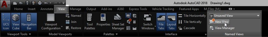 Sheet Setup Made Easy with AutoCAD 2018.1 Views and Viewports AutoCAD 2018.1 New View