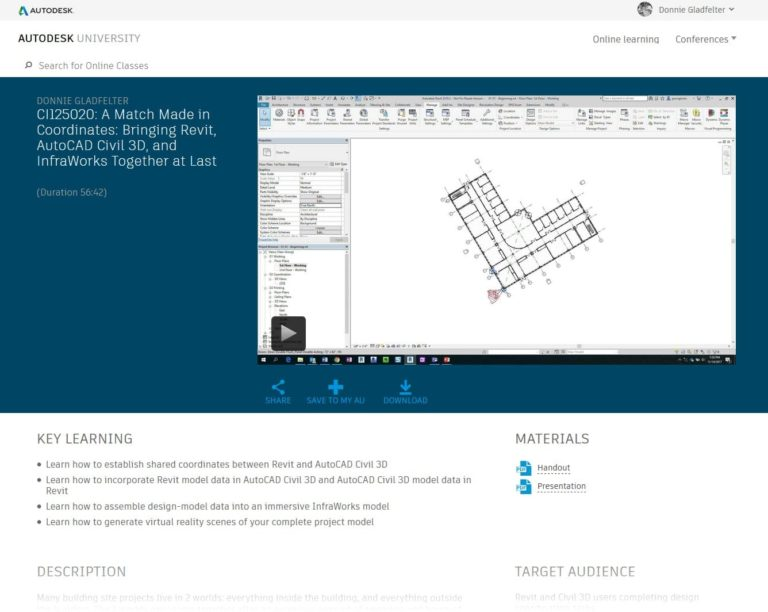 A Match Made in Coordinates: Bringing Revit, AutoCAD Civil 3D, and InfraWorks Together at Last