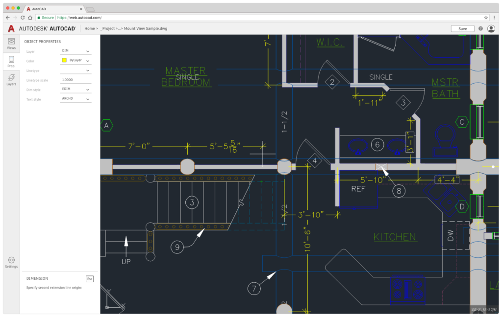 A First Look at What's New in AutoCAD 2019 AutoCAD Web Dimensions
