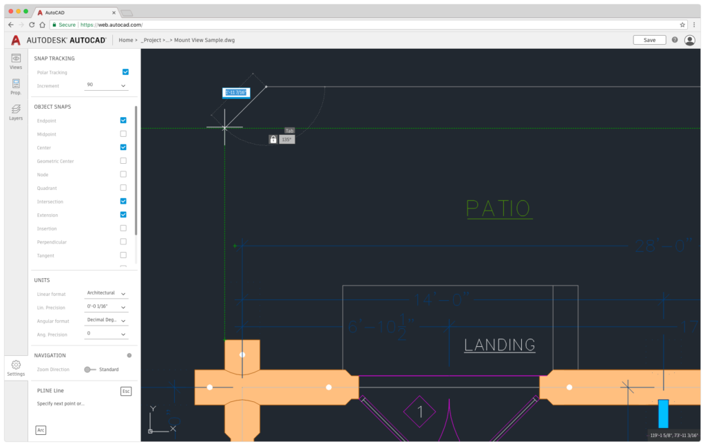 A First Look at What's New in AutoCAD 2019 AutoCAD Web Object Snap Tracking