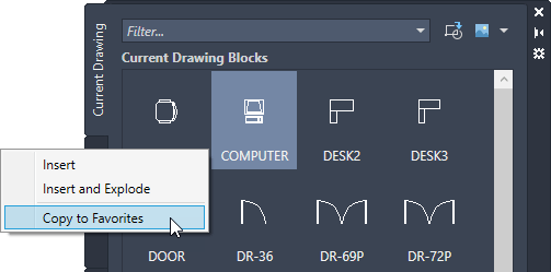 A First Look at AutoCAD 2021.1 autocad blocks palette copy to favorites