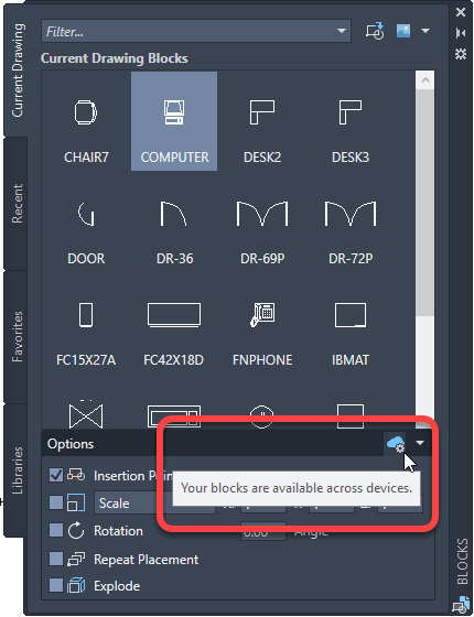 A First Look at AutoCAD 2021.1 autocad blocks palette sync across devices