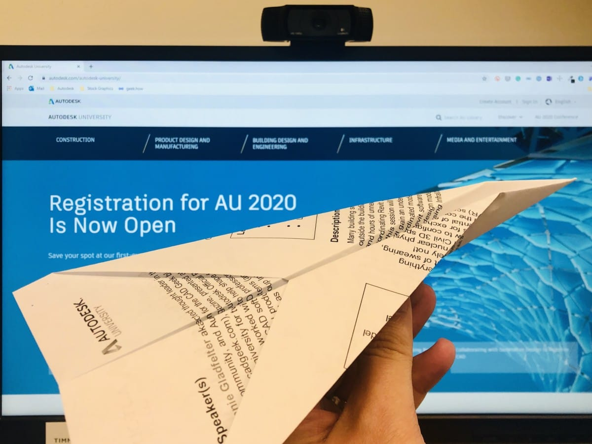 Autodesk University 2020 Registration